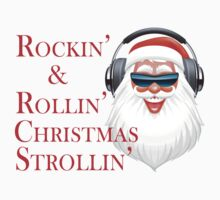 Rockin' Cool Santa Claus With Headphones by FireFoxxy