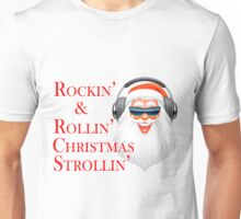 Rockin' Cool Santa Claus With Headphones Unisex T-Shirt