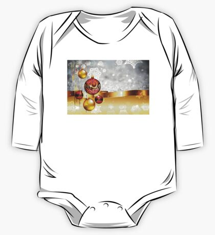 Grey Background with Colorful Balls One Piece - Long Sleeve