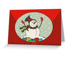 Snow Man -Trav Nash Greeting Card