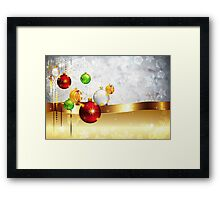 Grey Background with Colorful Balls 2 Framed Print