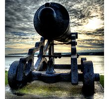 Collingwood Monument Cannon Photographic Print