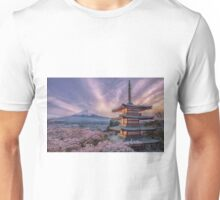 Sakura, from the leaves to the sky Unisex T-Shirt