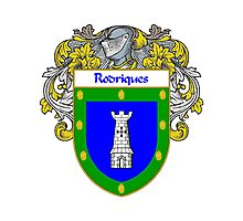 Rodriques Coat of Arms/Family Crest Photographic Print