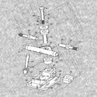 Skate Truck - Blueprint by enedois