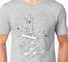 Skate Truck - Blueprint Unisex T-Shirt