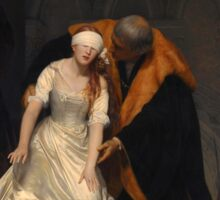 The Execution of Lady Jane Grey by Paul Delaroche  Sticker