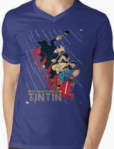 tintin adventures Mens V-Neck T-Shirt