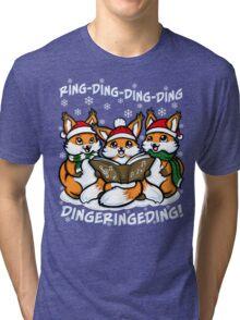 What does the Fox Sing Tri-blend T-Shirt