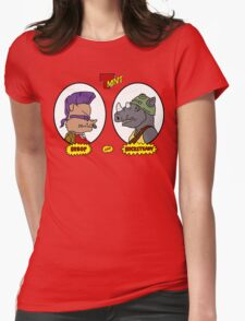 Bebop and Rocksteady Womens Fitted T-Shirt