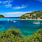 Panorama of Lakka bay & village, Paxos island by Hercules Milas