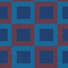 Red and Blue Retro Square Pattern by ibadishi