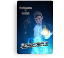 Fandom Hearts Donald Poster Canvas Print