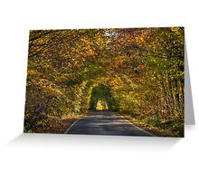 Hicks Forstal Road in autumn Greeting Card