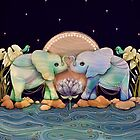 Lotus Flower Elephants of the Rainbow by © Cassidy (Karin) Taylor