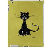 Olive Green Grunge Ragged Evil Black Cat Case iPad Case/Skin