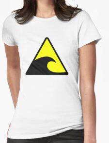 Tsunami Hazard Symbol Womens Fitted T-Shirt