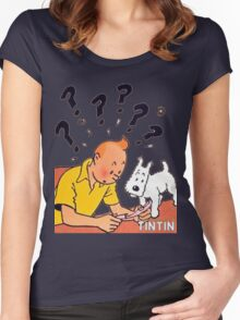 tintin adventures Women's Fitted Scoop T-Shirt