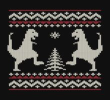 Ugly Christmas Dinosaurs One Piece - Long Sleeve