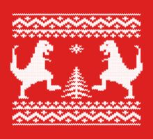 Ugly Christmas Dinosaurs Kids Tee