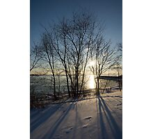 Long Shadows in the Snow Photographic Print