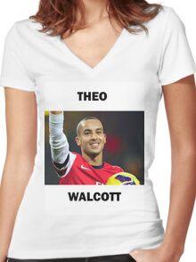 Theo Walcott Women's Fitted V-Neck T-Shirt