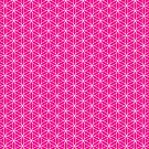 Flower of Life - Magenta by Steven Nicolaides