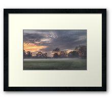 Misty Sunset Framed Print