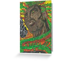 Afro Colors - Abstract Painting Greeting Card