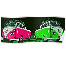 VW combi duo Poster