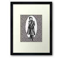 A Study In Grey Framed Print