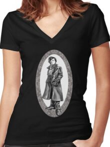 A Study In Grey Women's Fitted V-Neck T-Shirt