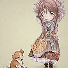 Sprawling Puppy Meets A Mori Girl by Katie Corrigan