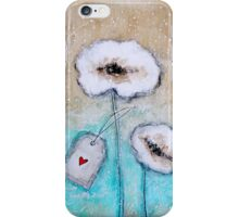 Flowers in the snow iPhone Case/Skin