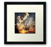 Electric Sunrays Framed Print