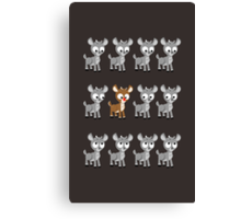 LOOK! Is Rudolph! v2 Canvas Print