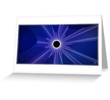 black sun - blue Greeting Card