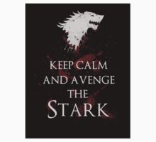Keep calm and avenge the Stark sticker by EdWoody