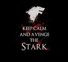 Keep calm and avenge the Stark iPhone  by EdWoody