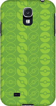 Endless Pokéballs (Green) by pixelwolfie
