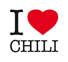 I ♥ CHILI Photographic Print