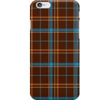 Tartan Background Brown, Blue, Orange iPhone Case/Skin