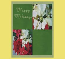 Mixed color Poinsettias 1 Happy Holidays Q5F1 Kids Clothes