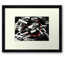 Red Heart between letters Framed Print
