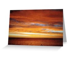 Australian Sunset Greeting Card