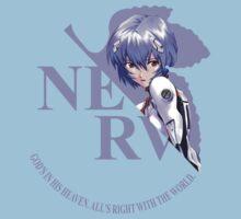 Rei - Nerv - Neon Genesis Evangelion Kids Clothes