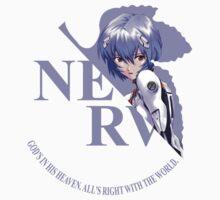 Rei - Nerv - Neon Genesis Evangelion Kids Tee