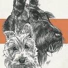 Scottish Terrier Father & Son by BarbBarcikKeith