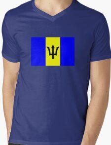 Flag of Barbados Mens V-Neck T-Shirt