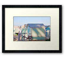 Red Bicycle - Mondello Beach - Italy Framed Print